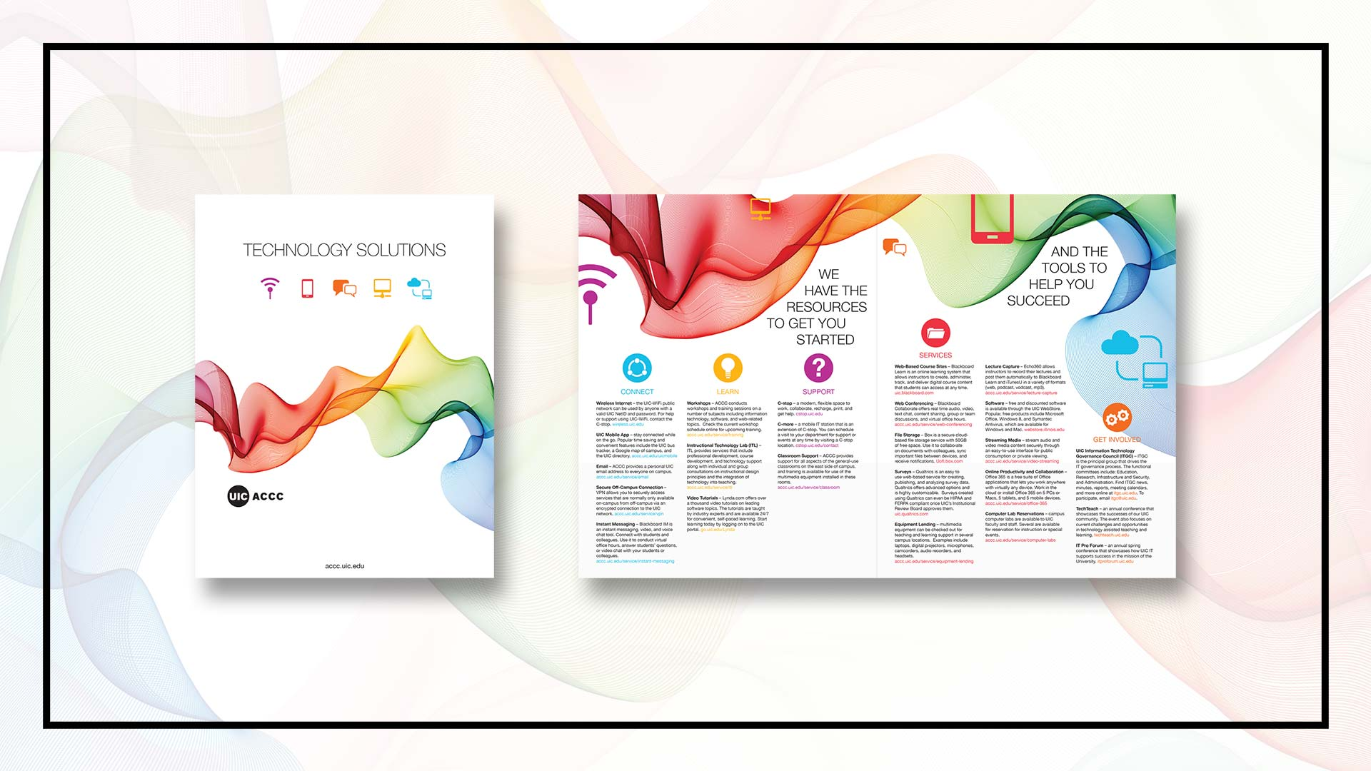 Brochure print design in Chicago IL