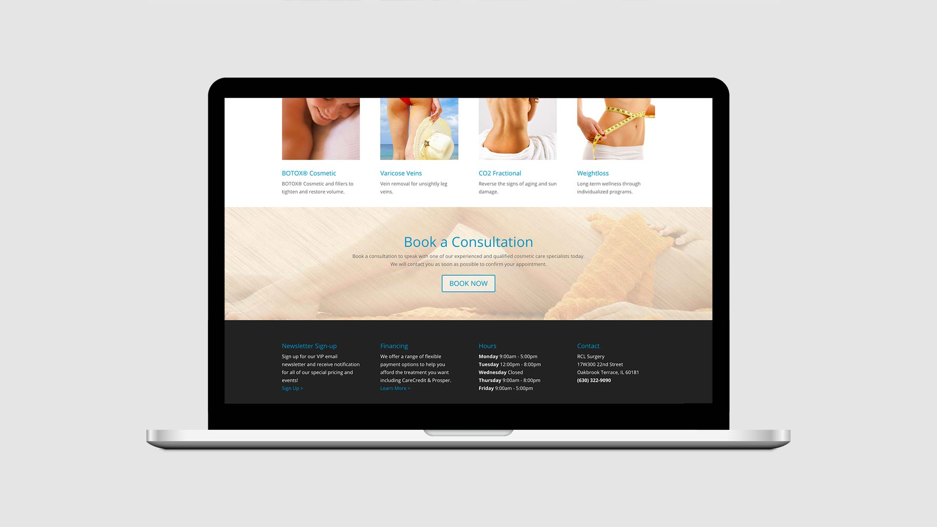 Web development for RCL Surgery in Chicago IL