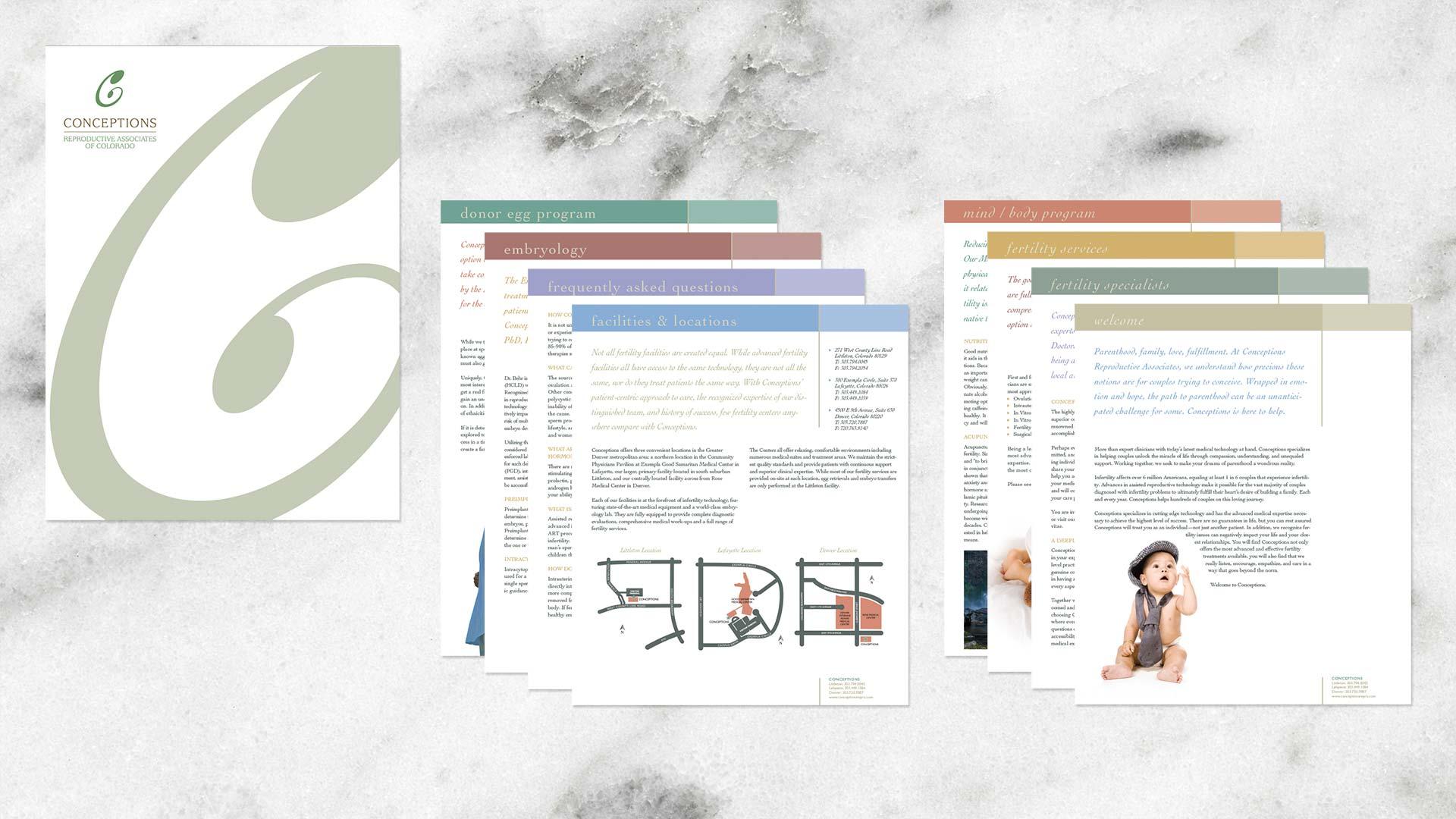 Folder and insert print design Chicago IL
